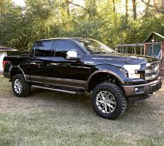 100 35 Ford Truck 2016 F150 Lariat FX4 Black And Caribou 6 Rough Country