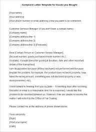 sample of plaints letter Templatesanklinfire