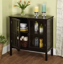 Image Is Loading Buffet Table Cabinet Dining Room Storage Black Small