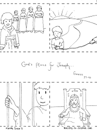 Bible Coloring Pages Joseph Sold Into Slavery In Story And