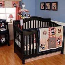 amazon com vintage mickey nursery 4 piece bedding set crib