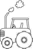 Free Black and White Transportation Outline Clipart Clip Art