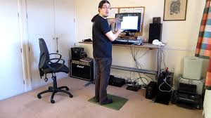 Office Max Stand Up Computer Desk by Jake Birkett Demonstrating A Motorised Standing Desk Youtube