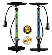 aergun x 1000 bike pump 160 psi bicycle pump with pressure gauge