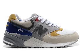 Mens Blue Grey Vintage Style Sneakers