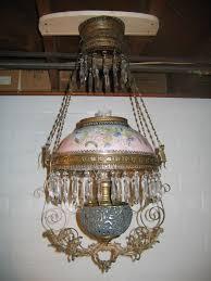 Ebay Antique Kerosene Lamps by Modern Antique Hanging Lamps Tulip Shaped Amber Antique Lamp