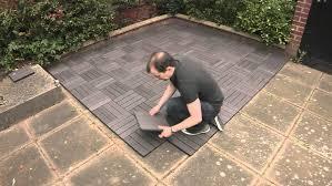 Ipe Deck Tiles Toronto by Wood Deck Tiles Over Concrete Fascinating Deck Wood Grain Tile