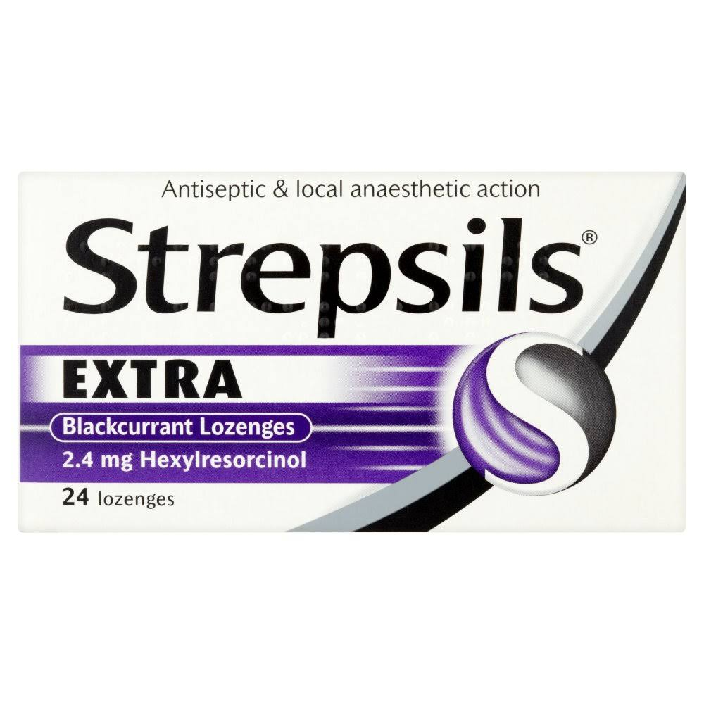 Strepsils Extra Blackcurrant Lozenges - 24ct