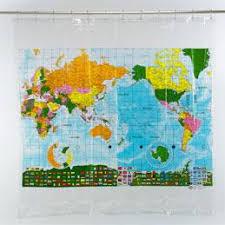 WORLD MAP SHOWER CURTAIN WORLD MAP SHOWER CURTAIN Shower