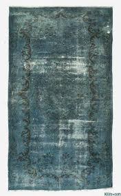 Blue Over Dyed Turkish Vintage Rug
