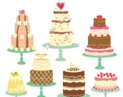 ON SALE clip art cake clip art Digital clip art for all use celebrated cakes INSTANT Download