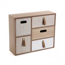 boite a tiroirs en bois versa boîte à bijoux 5 tiroirs bois gris boite à bijoux versa