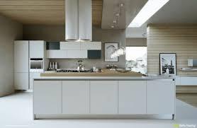 cuisine bois blanchi design interieur cuisine bois et blanc ilot rangements hotte