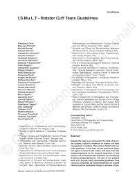 si e orthop ique i s mu l t rotator cuff tears guidelines pdf available