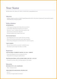 Resume Waitress Examples Inside Sample