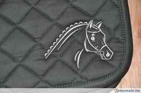 tapis de selle broderie tête de cheval diamants d imitation a