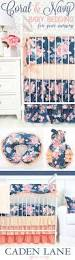 Navy And Coral Crib Bedding by Best 25 Coral Navy Nursery Ideas On Pinterest Navy Nursery