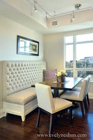 Kitchen Table With Bench Seating Collection In Dining Room Against Wall Best