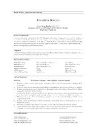 High School Student Resume Profile Statement Examples Of Statements On Sample Engineering