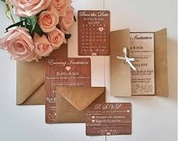 Rustic Shabby Chic Theme Wedding Stationery Save The Date Cards Personalised With Envelopes Included