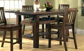 High Dining Table Bar Style Top With Chairs