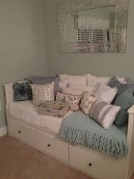 Ikea Daybed less pillows change knobs on drawers Love the