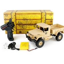 Wpl B 1 1 :16 Rc Military Truck Mini Off Road Car Rtr Metal ...