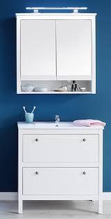 badezimmer set ole landhausstil inkl waschbecken weiß