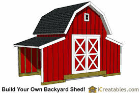 8 X 10 Gambrel Shed Plans by Barn Shed Plans Classic American Gambrel Diy Barn Designs