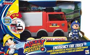 100 Mickey Mouse Fire Truck Camion De Bomberos Con Luz Con Luces Original 2590