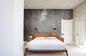 View In Gallery Custom Wall Mural Creates A Sense Of Harmony The Contemporary Bedroom Design Kari