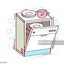 Dishes Clipart Loading Dishwasher