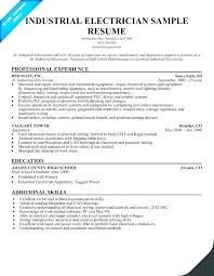 Examples Of Electricians Resumes Electrical Apprentice Resume Sample Electrician Templates Res