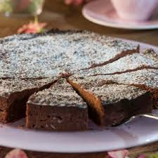 dunkler schokoladen nuss kuchen