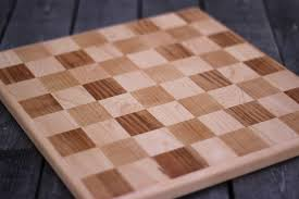 Picture Of Solid Wood Chess Board