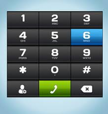 black number phone keypad vector