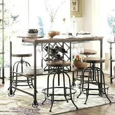 Industrial Dining Set Small Chic Room Table