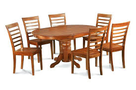 Oval Dining Room Sets For 6 7 Pieces Set Table With