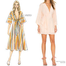 Sew The Look Vogue Patterns V9253 Kimono Dress Sewing Pattern