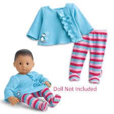 Amazoncom American Girl Bitty Baby Ruffled Penguin Pajamas For 15