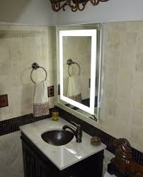 style lighted vanity wall mirror new home design pertaining to