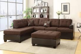 Poundex 3pc Sectional Sofa Set by Poundex F7603 3 Pcs Blended Linen Sectional Sofa Set