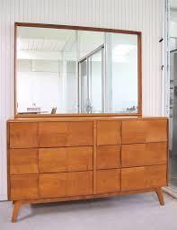 mid century heywood wakefield dresser with mirror 795