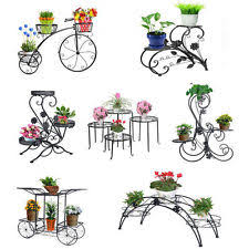 Patio Plant Stands Wheels by Metal Plant Stand Ebay