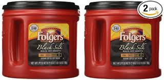 Amazon Folgers Coffee Ground Black Silk 2 Pack 278 Ounce Packages Grocery Gourmet Food