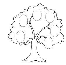 Family Tree Clip Art Coloring Page Colouring