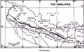 mountain ranges of himalayas 3 major physiographic divisions of india with maps