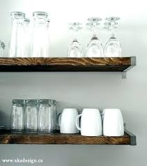 Rustic Wooden Shelves Wood For Kitchen Open Basic