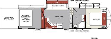 2016 5th Wheel Toy Hauler Floor Plans xlr nitro travel trailer u0026 fifth wheel toy haulers floorplans
