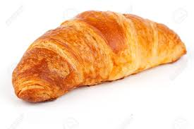 Fresh And Tasty Croissant Over White Background Stock Photo